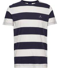 barstripe ss t-shirt t-shirts short-sleeved blå gant
