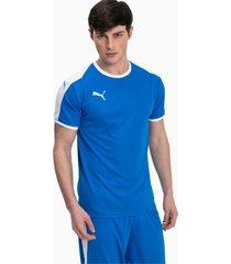 liga shirt, blauw/wit, maat m   puma