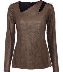 maglia metallizzata con cut-out (oro) - bodyflirt