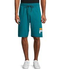 fila men's george logo-print shorts - green - size xl