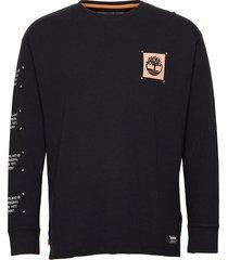 yc ls ww graphic tee relx t-shirts long-sleeved svart timberland