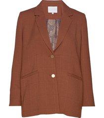 suit jacket in checked quality blazer colbert bruin coster copenhagen