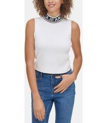 calvin klein jeans sleeveless mock-neck sweater