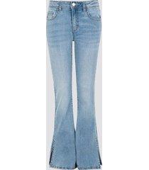 bailey slit flare jeans - ljusblå