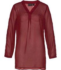 tunica in chiffon con strass (rosso) - bpc selection premium