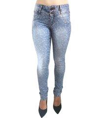 calça jeans bazz estampa galhos azul