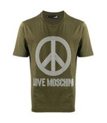 love moschino camiseta 'peace and love' - verde