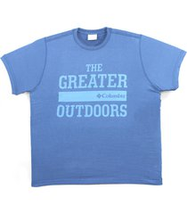 camiseta columbia the greater outdoor azul carbon 320280