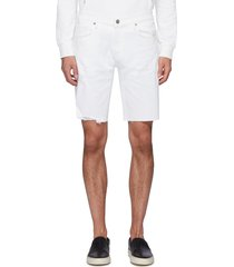 'eli' raw edge denim shorts