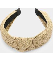 charlotte rattan knot headband - natural