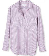 blusa drapy rayas mujer rosa gap