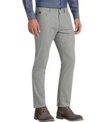 joseph abboud gray flannel modern fit pants