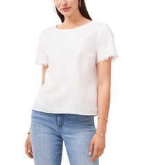 vince camuto frayed-sleeve t-shirt