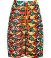 stella jean girl pants with ethnic print