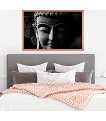 quadro com moldura buddha em cinza rose metalizado - médio - tricae