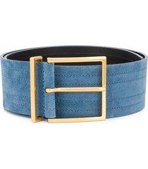 sandro paris cameron stitched stripe belt - blue