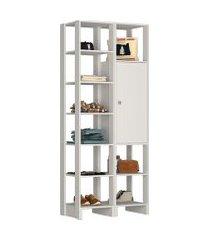 estante closet nova mobile ey104 yes 1 porta e 11 prateleiras