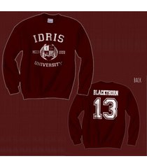 blackthorn 13 idris university shadowhunters unisex crewneck sweatshirt maroon
