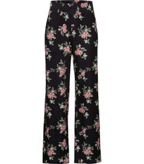 pantaloni a palazzo in jersey a fiori (nero) - bodyflirt
