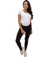 calça gestante & cia legging premiun cotton preto - kanui