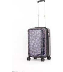 "triforce lumina 22"" carry on iridescent geometric design luggage"