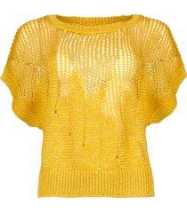 gebreide trui almina  geel