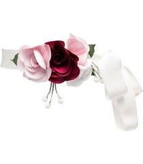 monnalisa floral-embellished belt - white