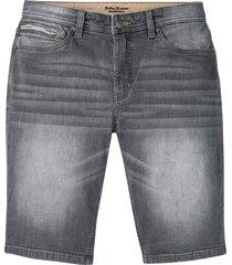 bermuda di jeans elasticizzati slim fit (grigio) - john baner jeanswear