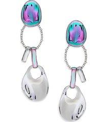 alexis bittar women's white rhodium, pvd & crystal dangle drop earrings
