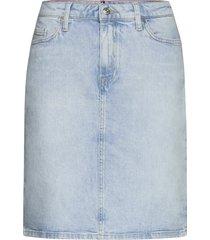 rome straight hw skirt lota kort kjol blå tommy hilfiger