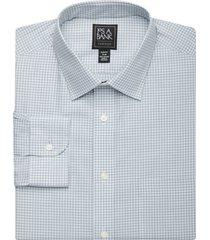 jos. a. bank men's traveler collection slim fit spread collar check dress shirt - big & tall clearance, green, 16x36