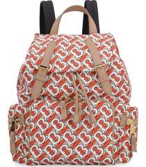 burberry the rucksack printed nylon backpack