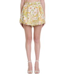 zimmermann shorts in multicolor cotton