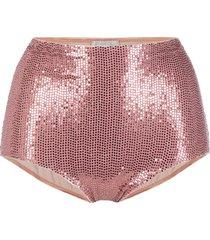 forte forte sequinned bikini bottoms - pink