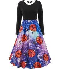 halloween print criss-cross dress