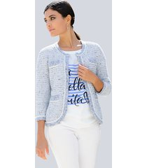 vest alba moda offwhite::lichtblauw