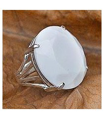 agate cocktail ring, 'oval facets' (brazil)