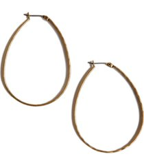 "lucky brand earrings, medium 1-3/4"" oblong hoop"