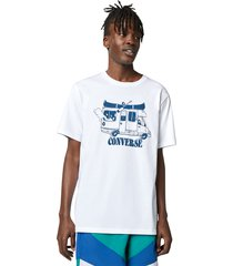 converse camiseta vacation mode white