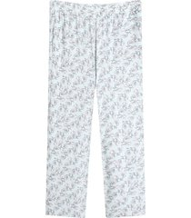 pantalon fluido mini flores color azul, talla 10