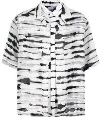 burberry printed twill shirt