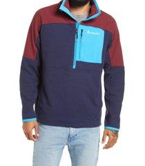 men's cotopaxi men's dorado half-zip fleece jacket, size xx-large - blue