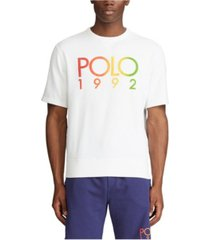 polo ralph lauren men's logo short-sleeve sweatshirt