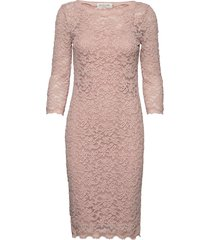 dress 3/4s jurk knielengte roze rosemunde
