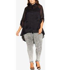 city chic women's trendy plus size elegant stripe shirt