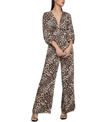 bcbgmaxazria leopard-print jumpsuit