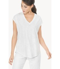 lilla p short sleeve v-neck simple tee
