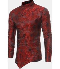 camicia etnica in cotone