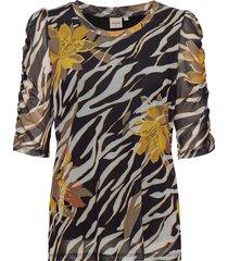 lullacr t-shirt blouses short-sleeved multi/mönstrad cream