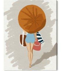 "oliver gal beach babe time canvas art - 16"" x 12"" x 1.5"""